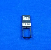 Dual 1228 Turntable Insignia Plate