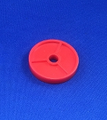 Red Turntable 45 Adapter